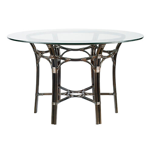 Clementina Round Dining Table, Clove