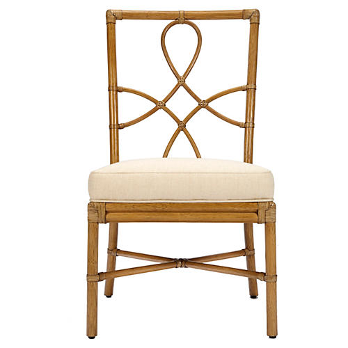 Olympia Rattan Side Chair, Nutmeg