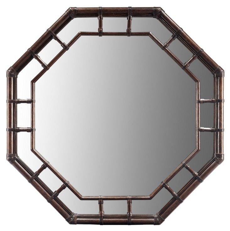 Regeant Octagonal Wall Mirror, Clove