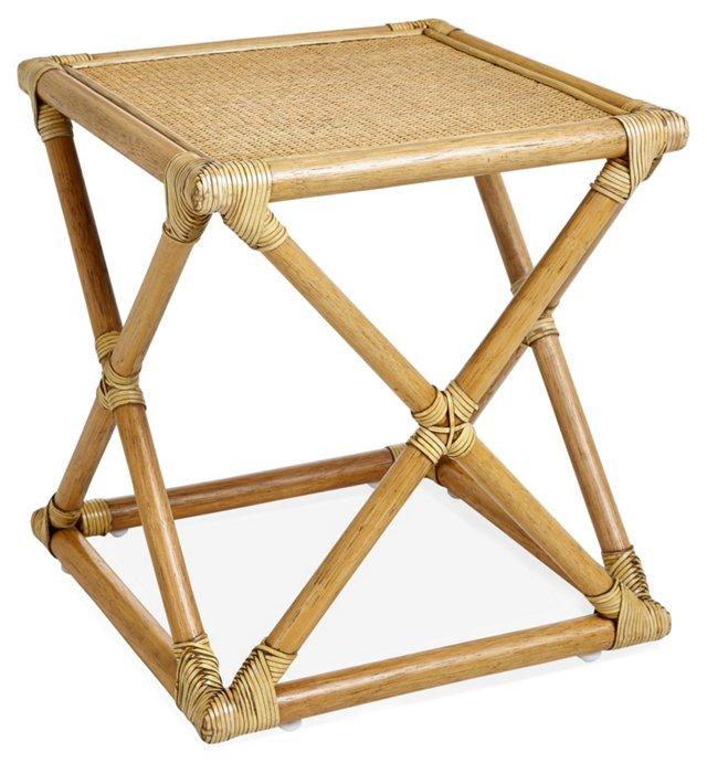 Vivienne Rattan Bunching Table, Nutmeg