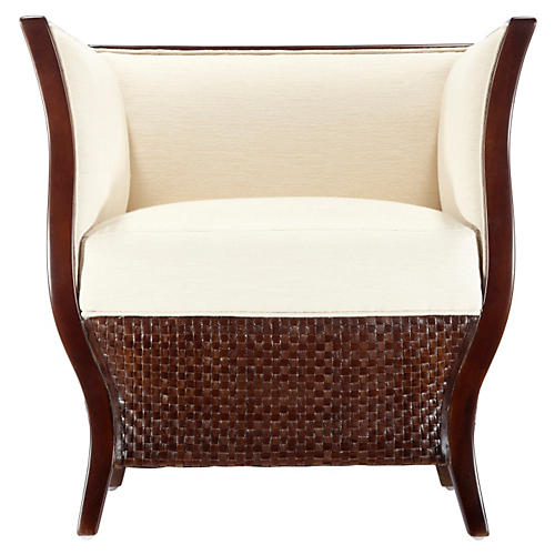 Rosa Tub Chair, Hazelnut/Ivory