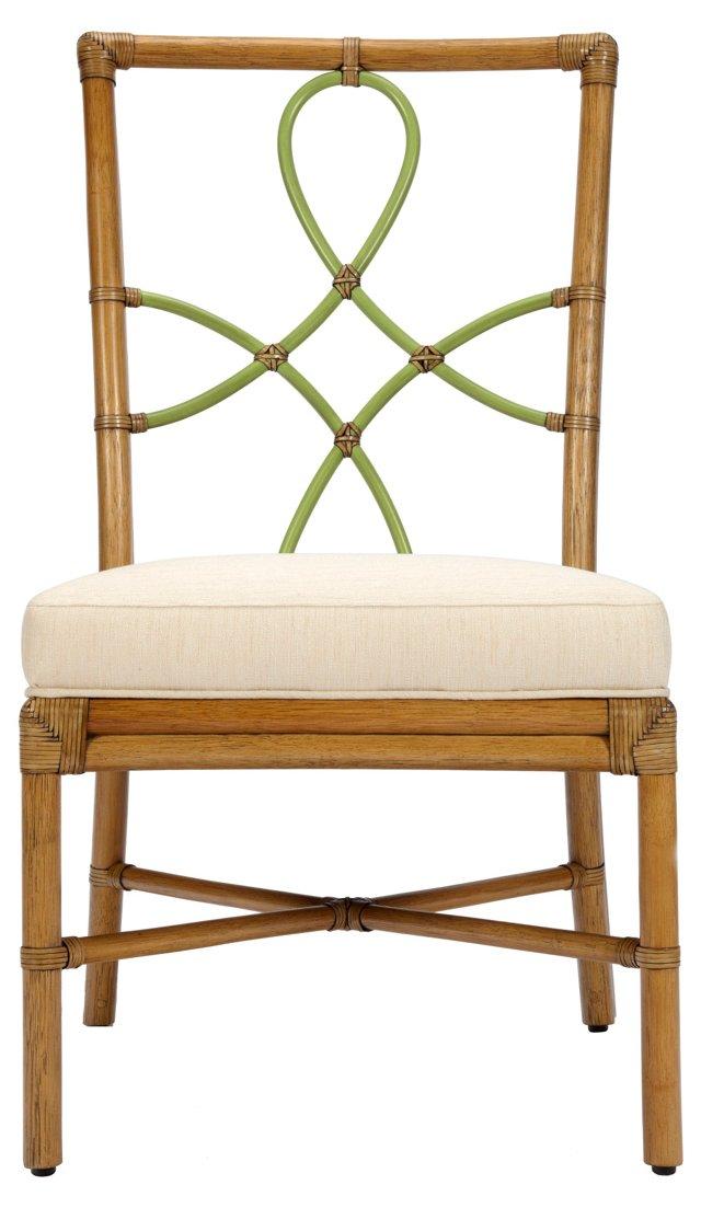 Olympia Rattan Side Chair, Nutmeg/Kiwi