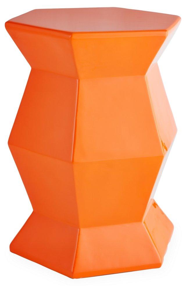 Hexagonal Garden Stool, Orange