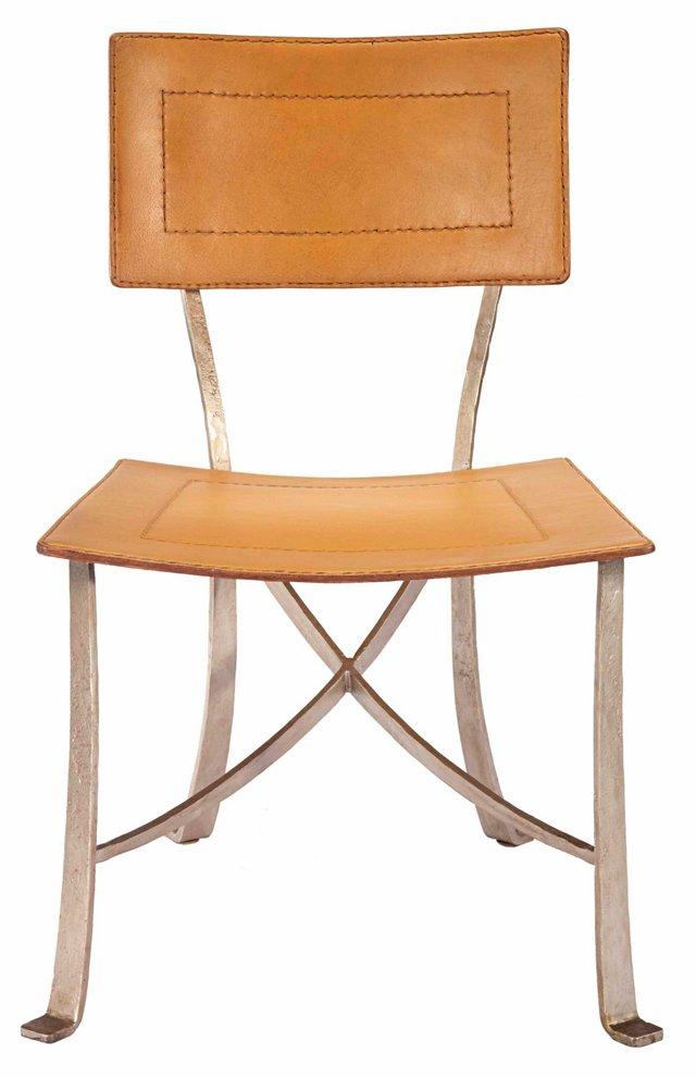 Bettina Leather Dining Chair, Ochre