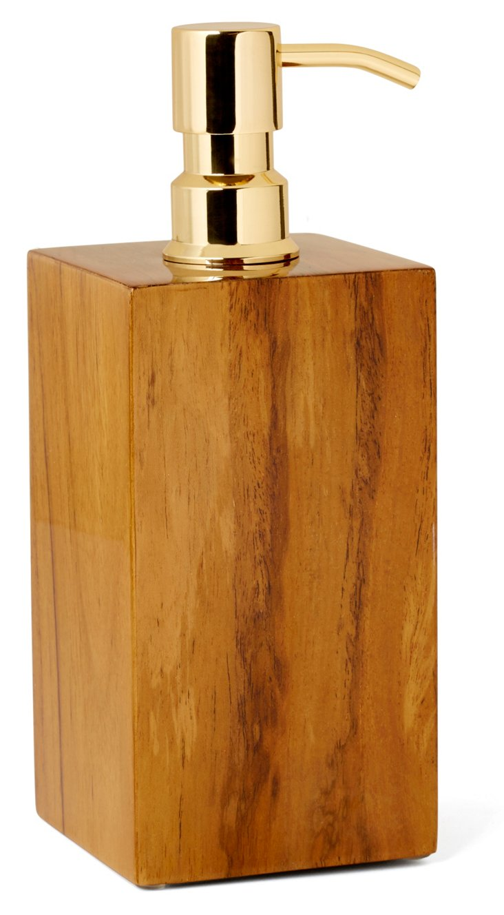Captain's Lotion Pump, Varnished Teak