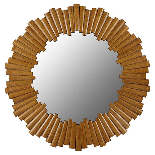 Dara Wall Mirror, Nutmeg