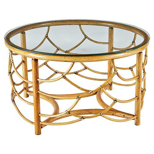 "Dorian 30"" Round Coffee Table, Nutmeg"