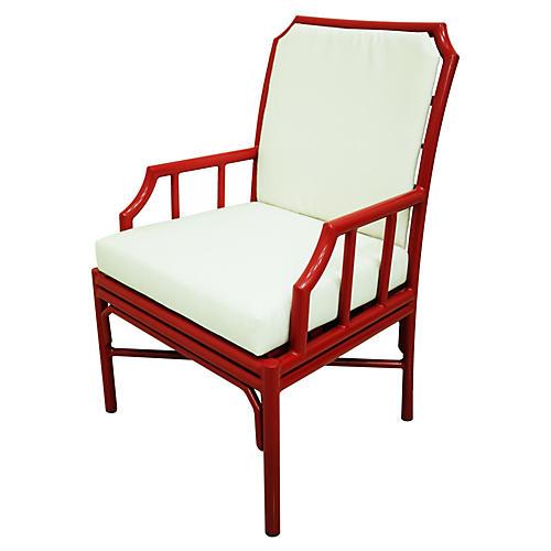 Milton 4-Season Armchair, Red