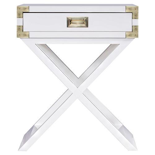 Kimber Campaign Nightstand, White