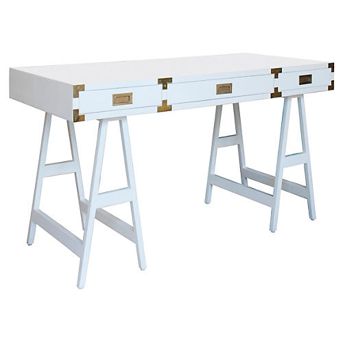 Kimber Study Desk, White
