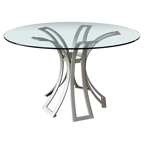 Kismos Dining Table, Silver