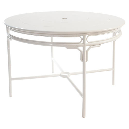 Regeant Round Dining Table, White