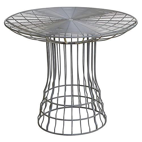 Mayfair Outdoor Bistro Table, Gray