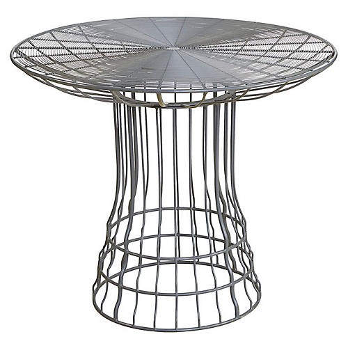 Mayfair Outdoor Bistro Table, Gray