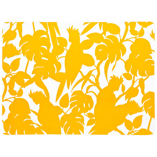 S/4 Cockatoo Place Mats, Yellow