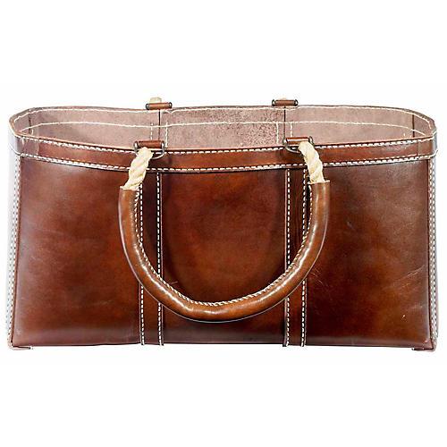 """25"""" Abner Log Bag, Walnut/Natural"""