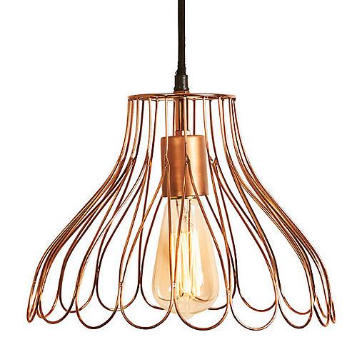 Mayfair Petal Pendant, Copper