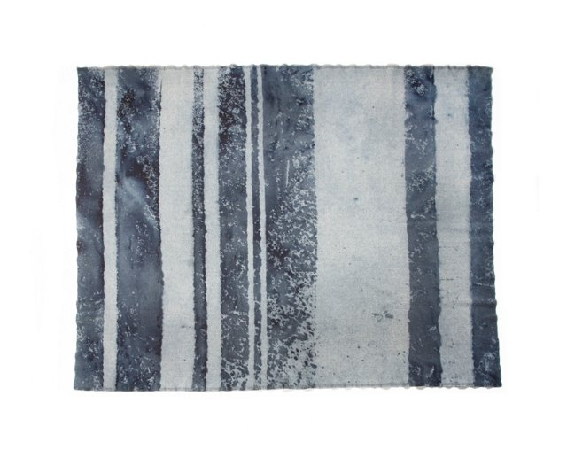 Herringbone Indigo Blanket