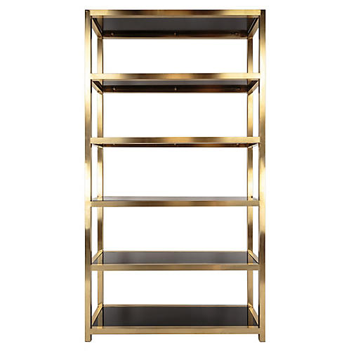 "Mireille 85"" Bookcase, Gold"