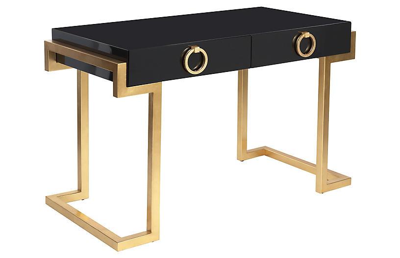 Walsh Desk - Black/Gold