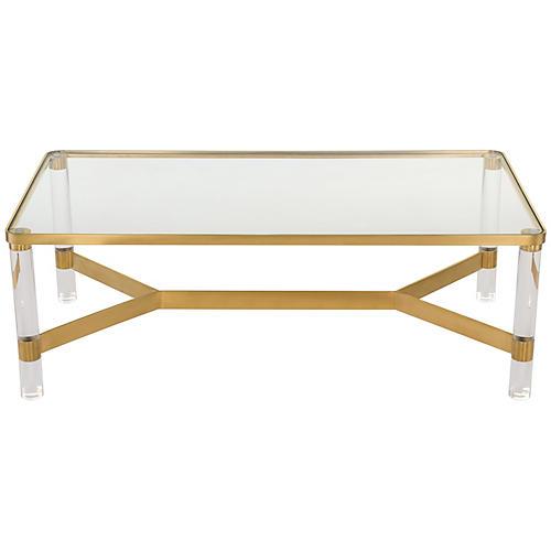 Delena Coffee Table, Gold