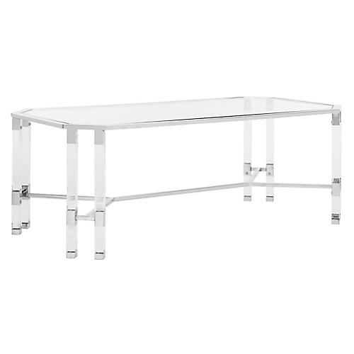 Chandon Coffee Table, Polished Silver