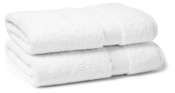 S/2 Candido Hand Towels, White