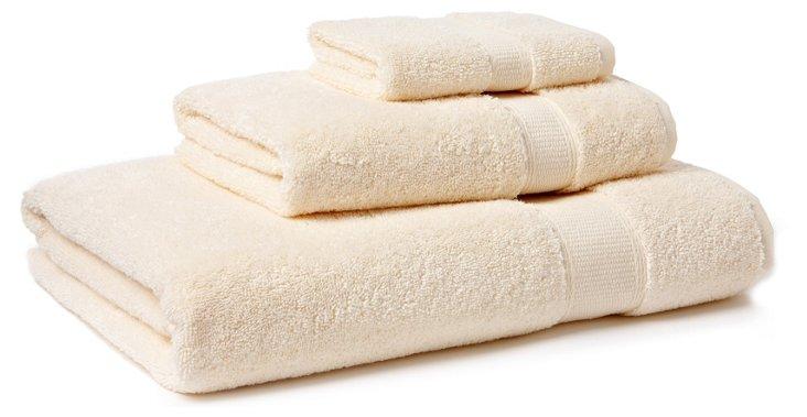 3-Pc Candido Towel Set, Ivory