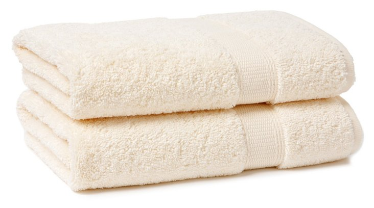 S/2 Candido Hand Towels, Ivory