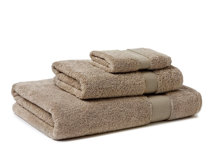 3-Pc Candido Towel Set, Taupe