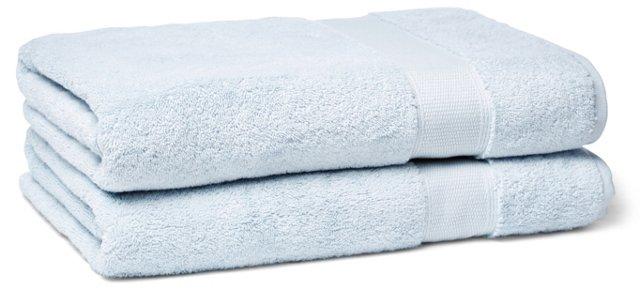 Candido Bath Towel, Ice Blue