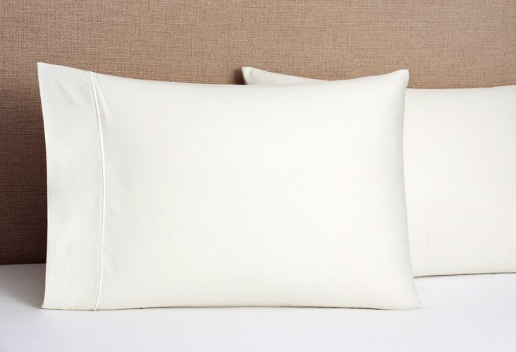 S/2 Regency Solid Pillowcases, Ivory