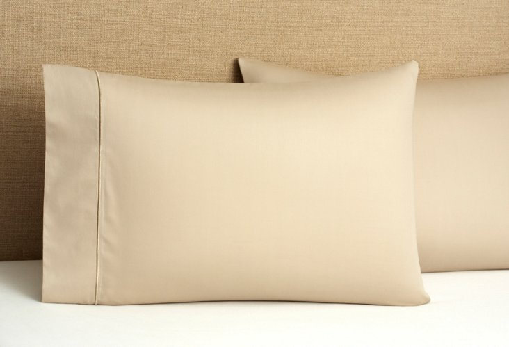 S/2 Regency Solid Pillowcases, Taupe