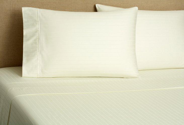 Regency Stripe Sheet Set, Ivory