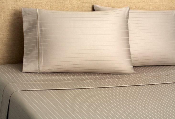 Regency Stripe Sheet Set, Gray