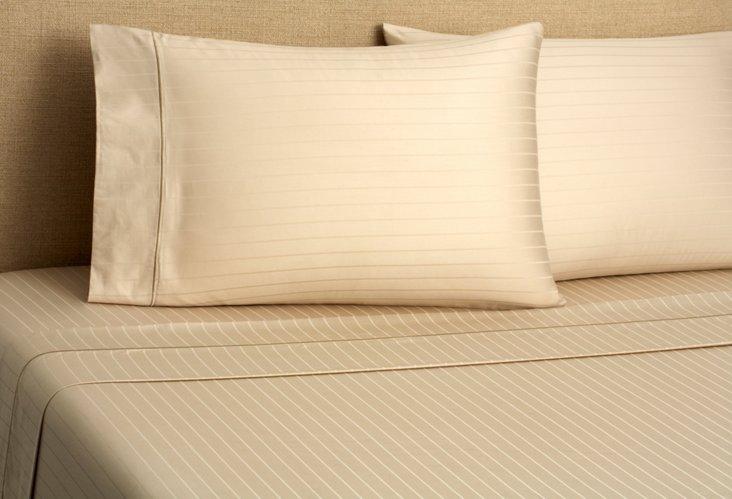 Regency Stripe Sheet Set, Taupe