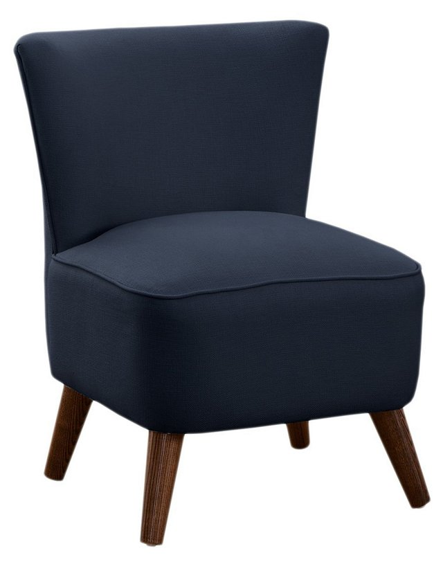Barnes Cotton Modern Chair, Navy