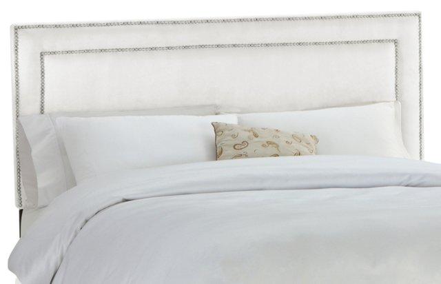 Bardot Upholstered Headboard, White