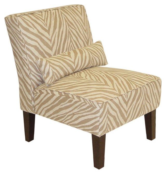 Bergman Armless Chair, Camel/Cream