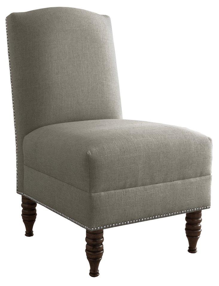 Geiger Armless Chair, Gray