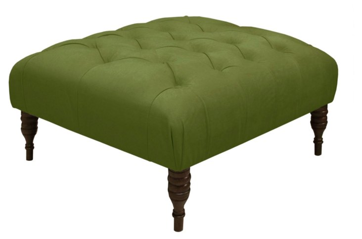 Elliot Cocktail Ottoman, Fern Green