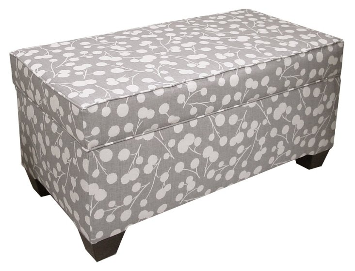 Arthur Storage Bench, Dove Gray/White