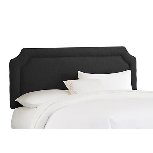 Morgan Headboard, Black Linen