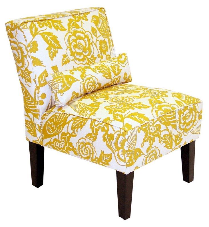 Bergman Armless Chair, Canary