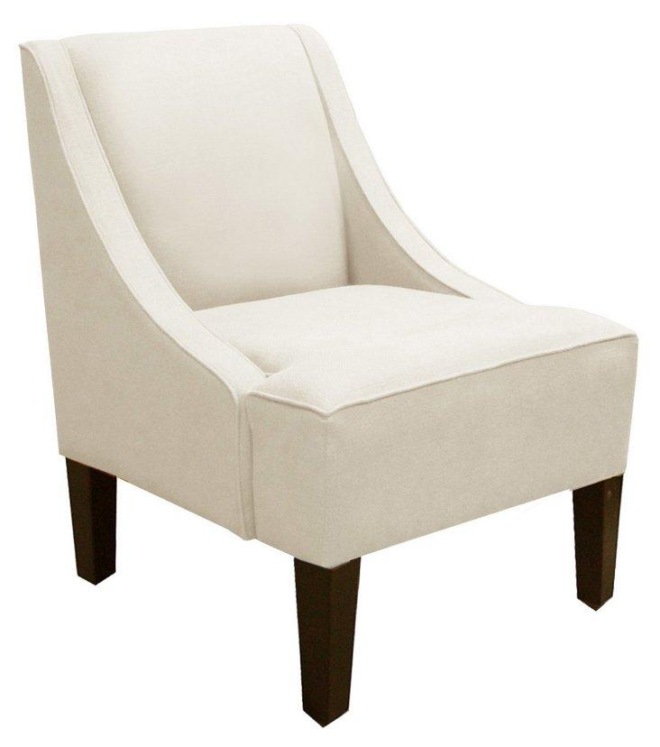 Fletcher Swoop-Arm Chair, Talc