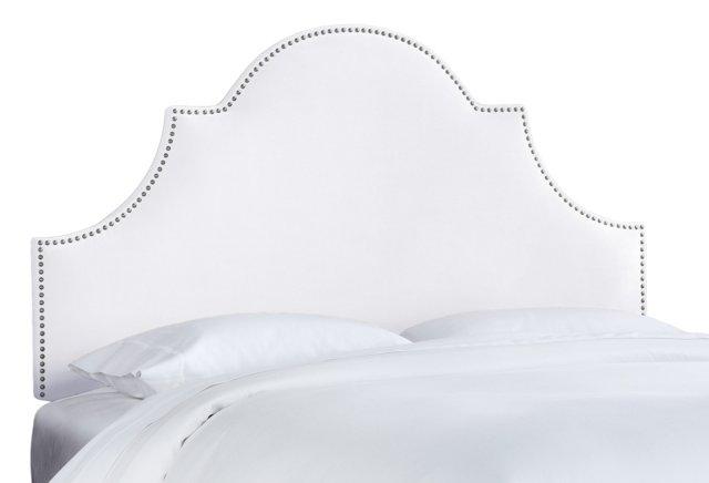 Hedren Headboard, White Velvet