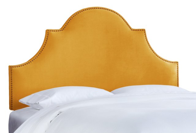 Gold Hedren Headboard, Queen