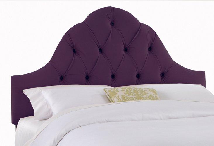 Lulu Velvet Tufted Headboard, Purple