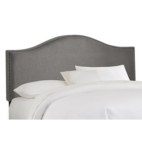 Tallman Nailhead Headboard, Gray