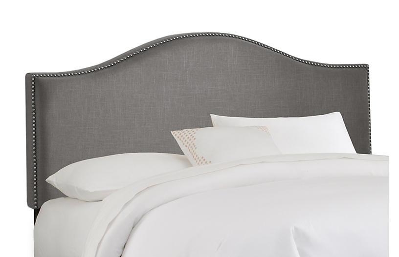 Tallman Headboard, Gray Linen